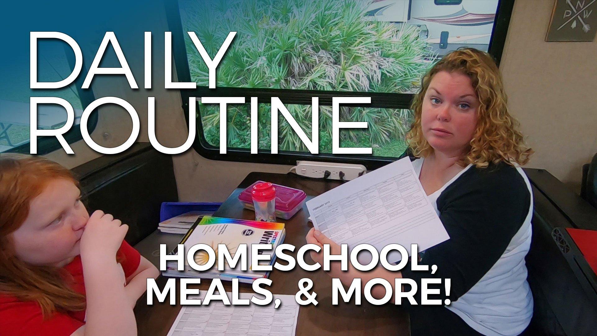 RV Family Daily Routine