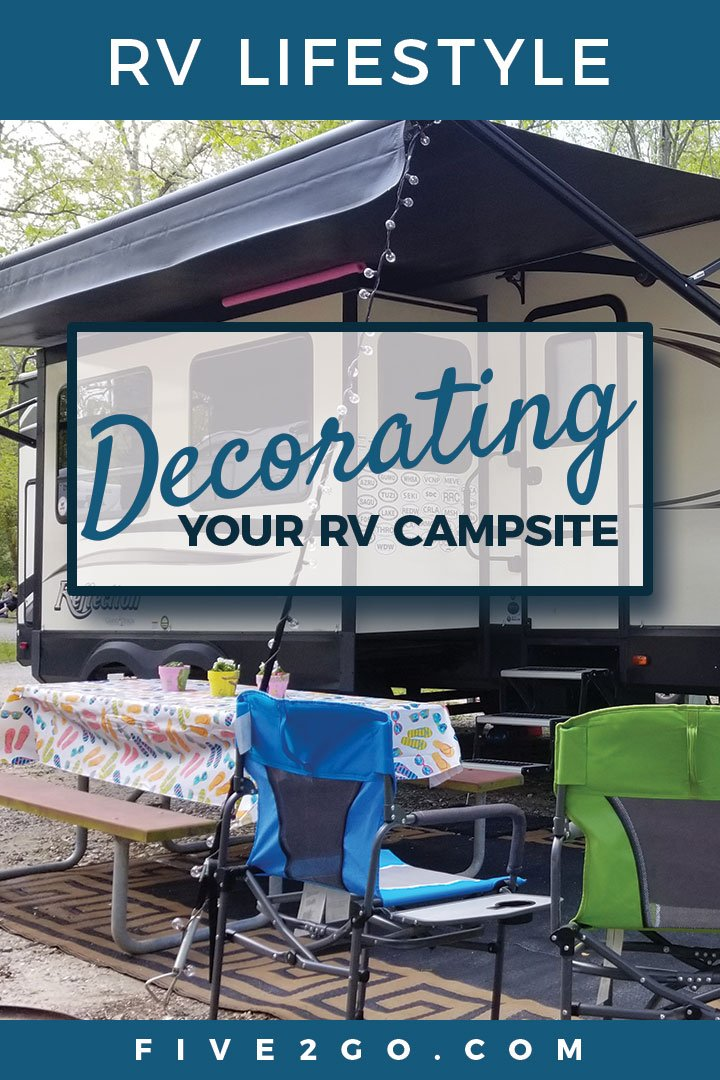 RV Campsite Outdoor Setup and Decorating