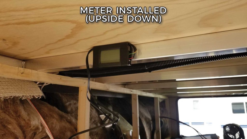 RV Power Meter Installed