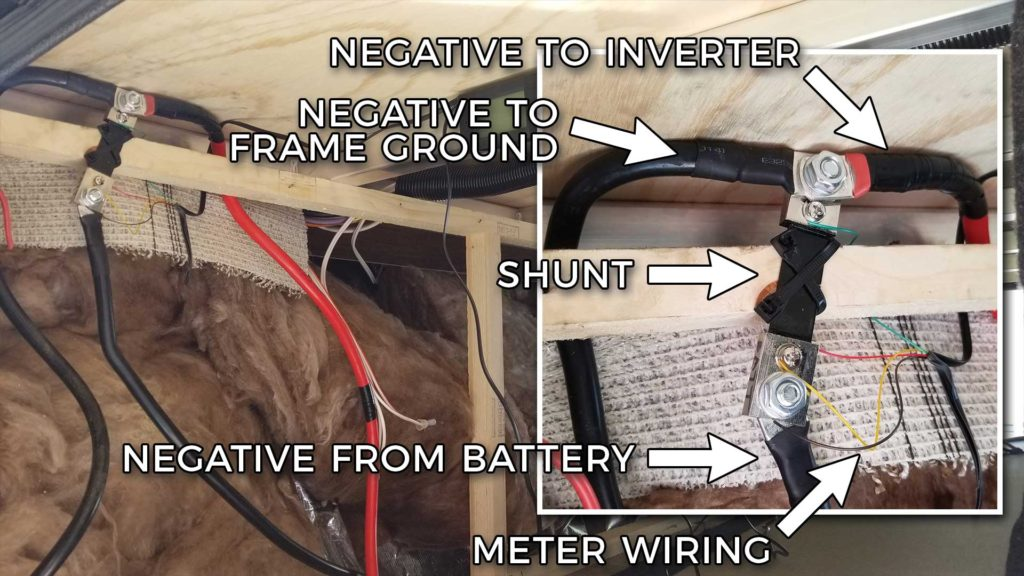 RV Negative Shunt and Meter Wiring